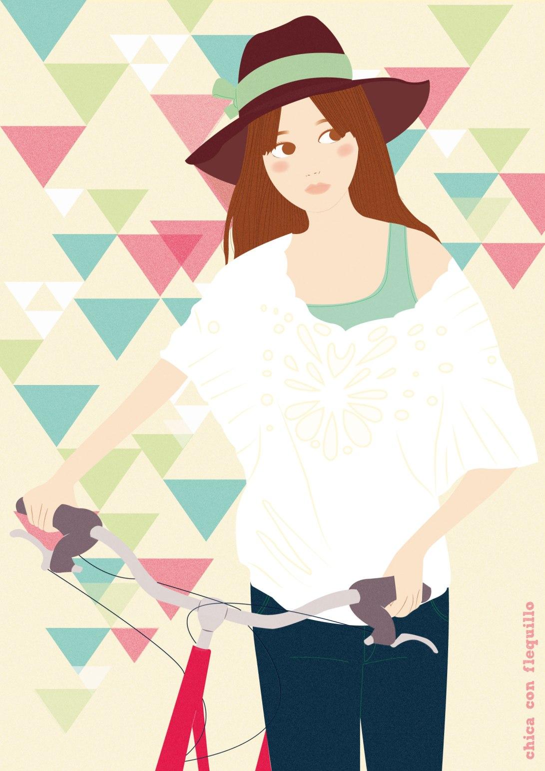 chica bici