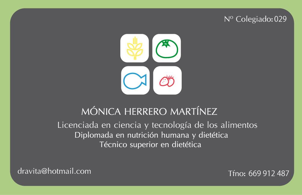 tarjeta visita Mónica Herrero