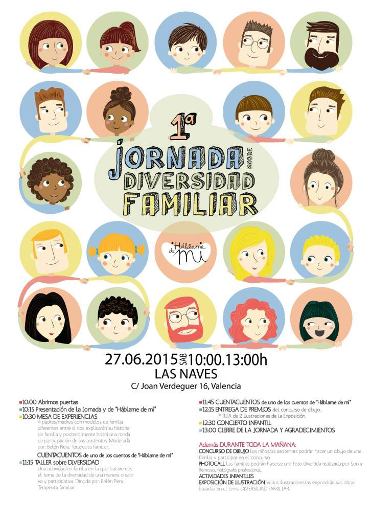 cartel jornada diversidad familiar