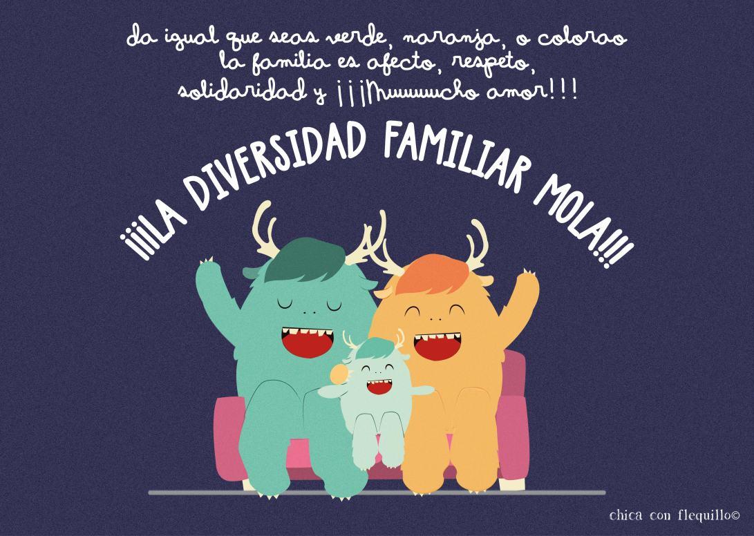 ilustración jornada diversidad familiar